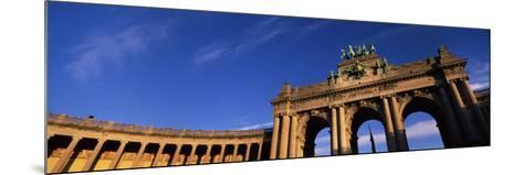 Low Angle View of a Triumphal Arch, Palais Du Cinquantenaire, Brussels, Belgium--Mounted Photographic Print