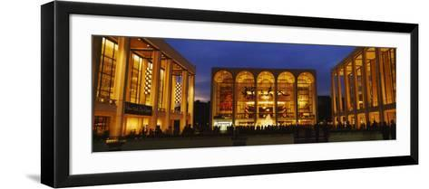 Entertainment Building Lit Up at Night, Lincoln Center, Manhattan, New York City--Framed Art Print