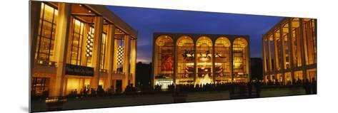 Entertainment Building Lit Up at Night, Lincoln Center, Manhattan, New York City--Mounted Photographic Print