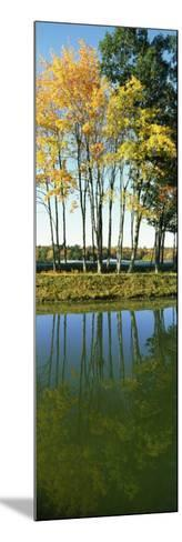 Reflection of Trees in a Lake, New England, USA--Mounted Photographic Print
