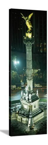 High Angle View of a Monument, El Angel, Paseo De La Reforma, Mexico City, Mexico--Stretched Canvas Print