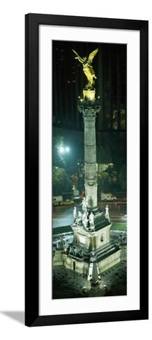 High Angle View of a Monument, El Angel, Paseo De La Reforma, Mexico City, Mexico--Framed Art Print