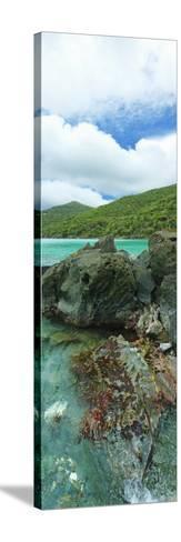 Rocks in the Sea, Jumbie Bay, St John, Us Virgin Islands--Stretched Canvas Print