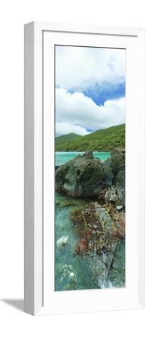 Rocks in the Sea, Jumbie Bay, St John, Us Virgin Islands--Framed Art Print