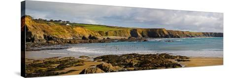 The Copper Coast, from Boatstrand Harbour, Co Waterford, Ireland--Stretched Canvas Print