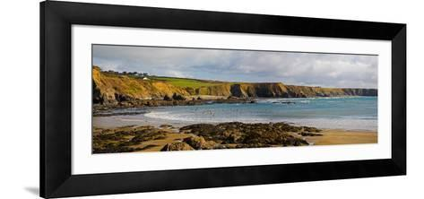 The Copper Coast, from Boatstrand Harbour, Co Waterford, Ireland--Framed Art Print