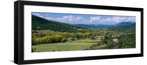 High Angle View of a Valley, Rio Pueblo, Penasco, New Mexico, USA--Framed Art Print