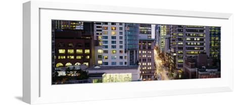 Buildings in a City, Hornby Street, Vancouver, British Columbia, Canada--Framed Art Print