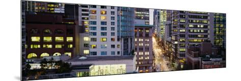 Buildings in a City, Hornby Street, Vancouver, British Columbia, Canada--Mounted Photographic Print