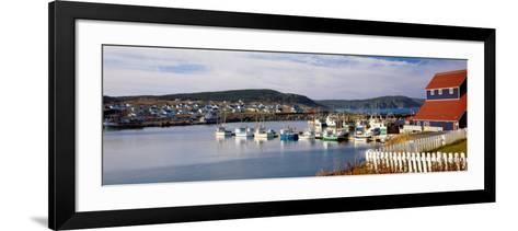 Boats in a Harbor, Bonavista Harbour, Newfoundland, Newfoundland and Labrador, Canada--Framed Art Print