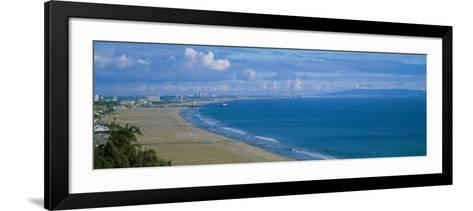 High Angle View of the Beach, Santa Monica, California, USA--Framed Art Print