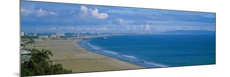 High Angle View of the Beach, Santa Monica, California, USA--Mounted Photographic Print