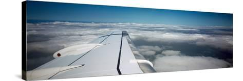 Airplane Wing--Stretched Canvas Print