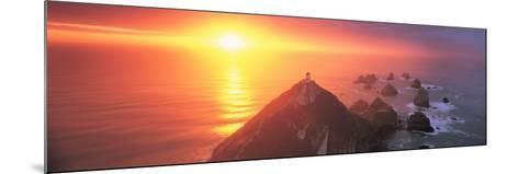 Sunset Nugget Point Lighthouse New Zealand--Mounted Photographic Print