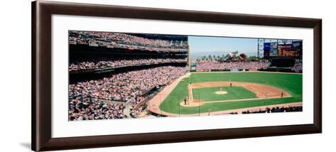 High Angle View of a Stadium, Pac Bell Stadium, San Francisco, California, USA--Framed Art Print