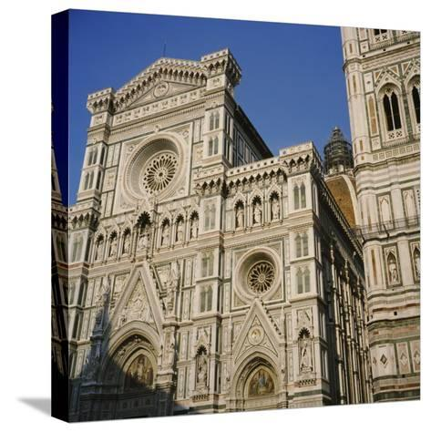Low Angle View of a Cathedral, Duomo Santa Maria Del Fiore, Florence, Italy--Stretched Canvas Print