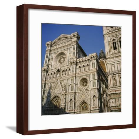 Low Angle View of a Cathedral, Duomo Santa Maria Del Fiore, Florence, Italy--Framed Art Print