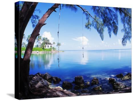 Rope Swing over Water Florida Keys Florida, USA--Stretched Canvas Print