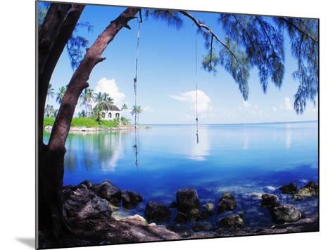 Rope Swing over Water Florida Keys Florida, USA--Mounted Photographic Print