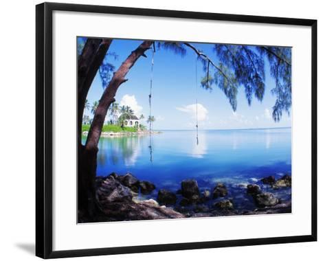 Rope Swing over Water Florida Keys Florida, USA--Framed Art Print