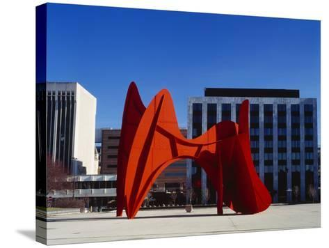 Sculpture in Front of a Building, Alexander Calder Sculpture, Grand Rapids, Michigan, USA--Stretched Canvas Print