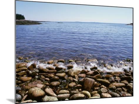 Maine, Acadia National Park, Wonderland Trail, Sea Waves Hitting Rocky Beach--Mounted Photographic Print