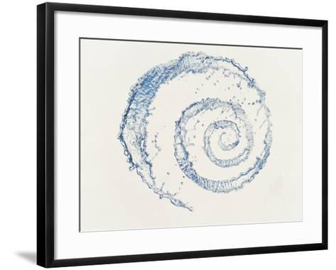 Spiral of Water Drops with White Background--Framed Art Print
