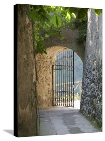 Gate of a Villa, Ravello, Salerno, Campania, Italy--Stretched Canvas Print
