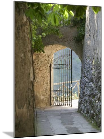 Gate of a Villa, Ravello, Salerno, Campania, Italy--Mounted Photographic Print