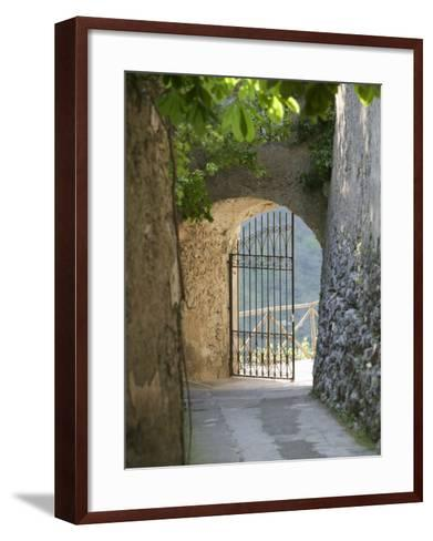 Gate of a Villa, Ravello, Salerno, Campania, Italy--Framed Art Print