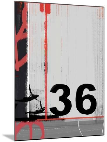Number 36-NaxArt-Mounted Art Print