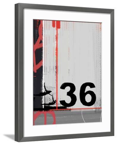 Number 36-NaxArt-Framed Art Print