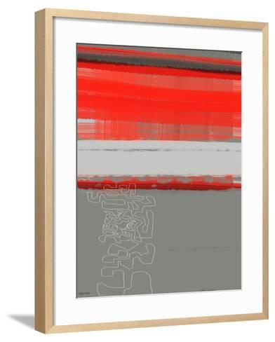 Abstract Red 1-NaxArt-Framed Art Print