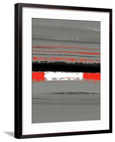 Abstract Red 4-NaxArt-Framed Art Print