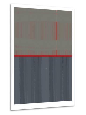 Red Stripe-NaxArt-Metal Print