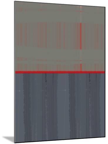 Red Stripe-NaxArt-Mounted Art Print