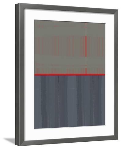 Red Stripe-NaxArt-Framed Art Print