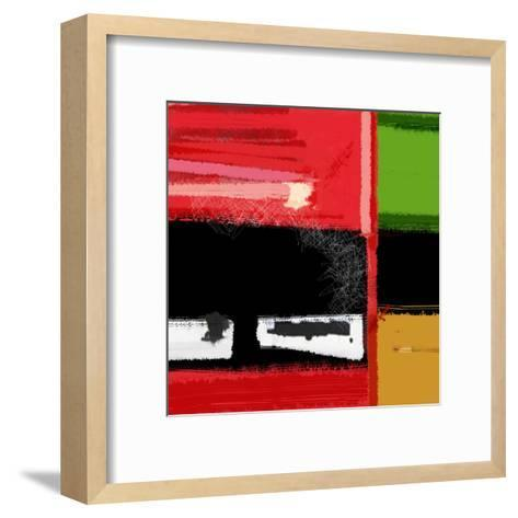 Red and Green Square-NaxArt-Framed Art Print