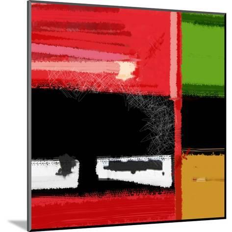 Red and Green Square-NaxArt-Mounted Art Print