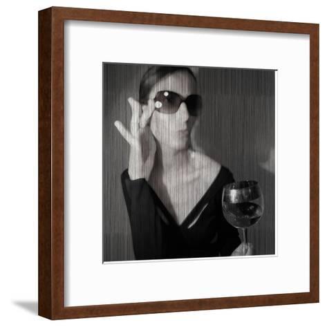 Loren with Wine-NaxArt-Framed Art Print