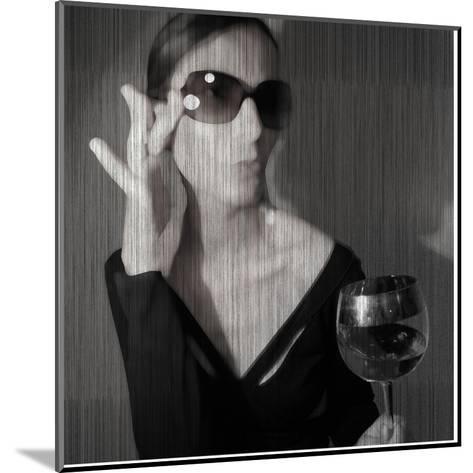 Loren with Wine-NaxArt-Mounted Art Print