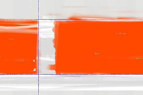 Orange Rectangle-NaxArt-Stretched Canvas Print