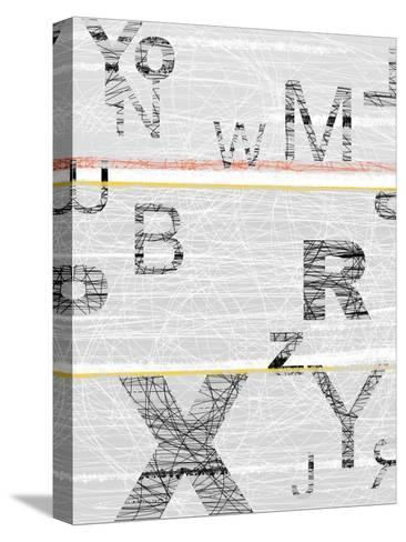 Numbers Grey-NaxArt-Stretched Canvas Print