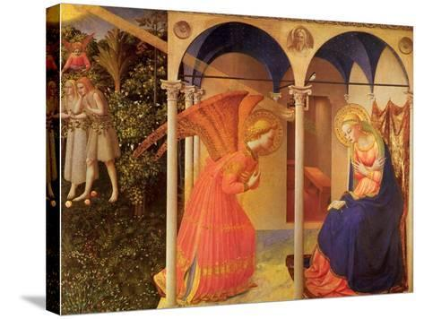 The Annunciation, 1400-Fra Angelico-Stretched Canvas Print