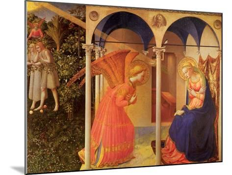 The Annunciation, 1400-Fra Angelico-Mounted Giclee Print
