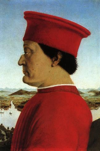 Portrait of Duke, 1465-Piero della Francesca-Stretched Canvas Print