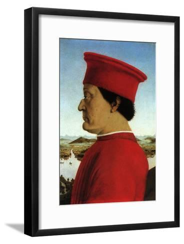 Portrait of Duke, 1465-Piero della Francesca-Framed Art Print