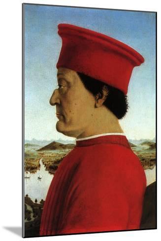 Portrait of Duke, 1465-Piero della Francesca-Mounted Giclee Print