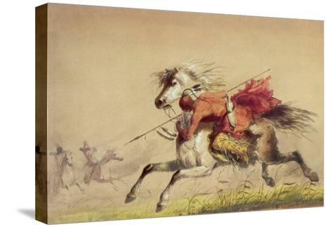 Blue Water Creek Battle, 1855-Alfred Jacob Miller-Stretched Canvas Print