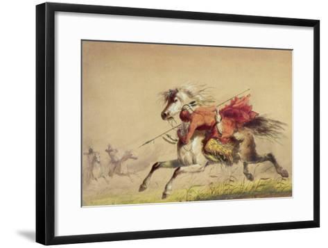 Blue Water Creek Battle, 1855-Alfred Jacob Miller-Framed Art Print